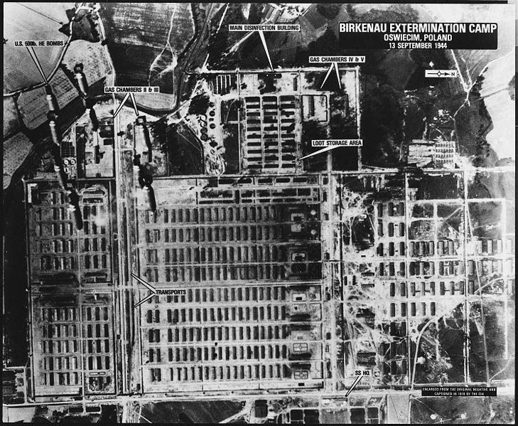 Auschwitz aerial photograph 1944